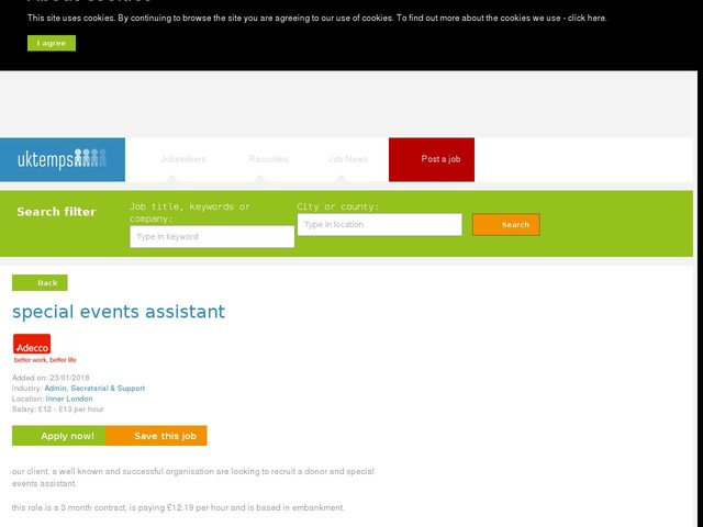 special events assistant