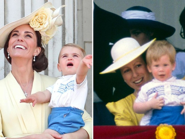 Prince Louis sports same outfit as Prince Harry wore for Trooping the Colour 30 years ago
