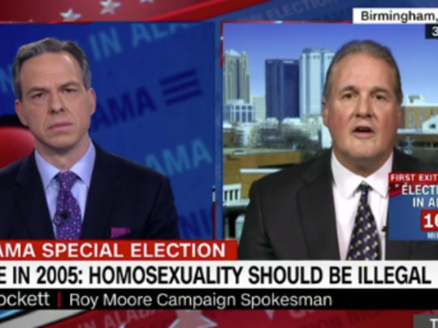 Roy Moore's Spokesman Gets Awkward Fact Check On US Constitution By CNN's Jake Tapper