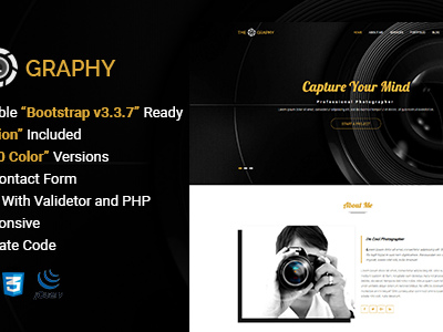 TheGraphy | Responsive Creative Photography HTML5 Template (Photography)