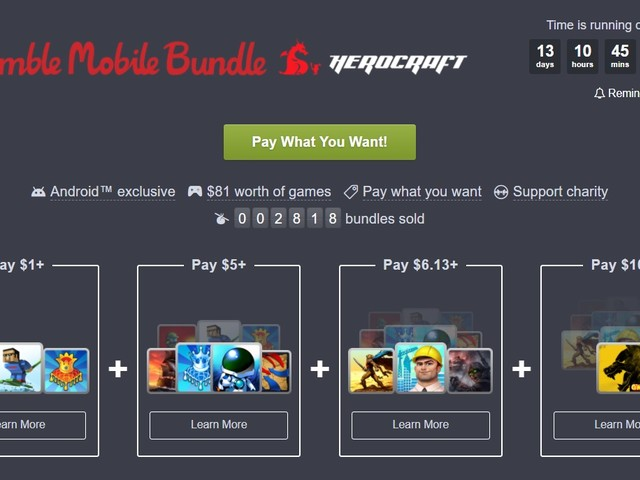 Latest Humble Bundle brings 11 HeroCraft games to your phone cheap