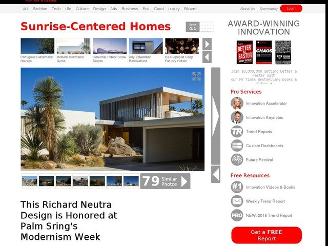 Sunrise-Centered Homes - This Richard Neutra Design is Honored at Palm Sring's Modernism Week (TrendHunter.com)