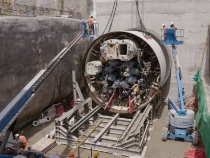 MRT SSP Line work on track