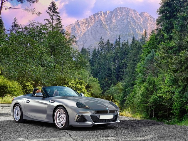 What if we mix the new BMW Z4 with Z8 accents?