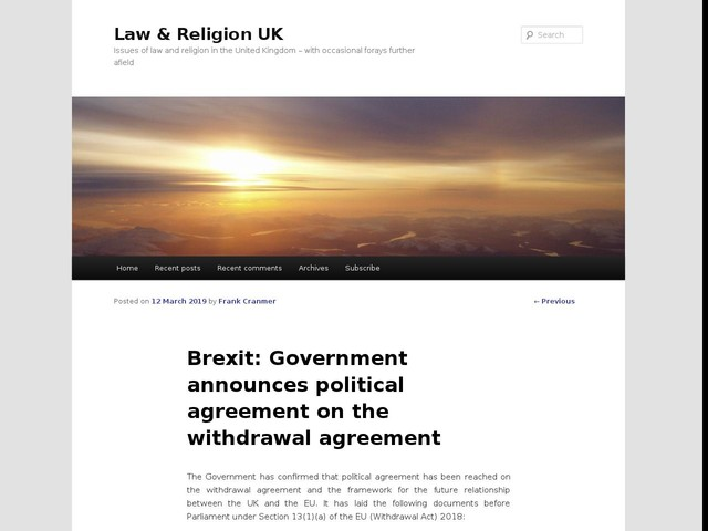 Brexit: Government announces political agreement on the withdrawal agreement
