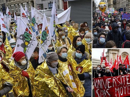 Teachers go on strike in France where classrooms have remained open