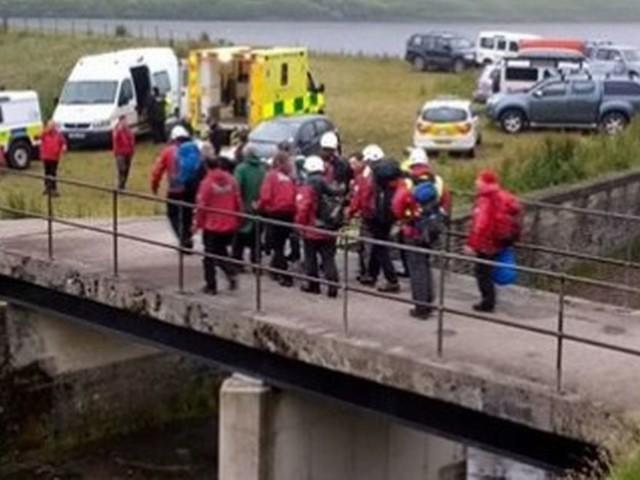 Mountain rescue team help man missing in rural spot