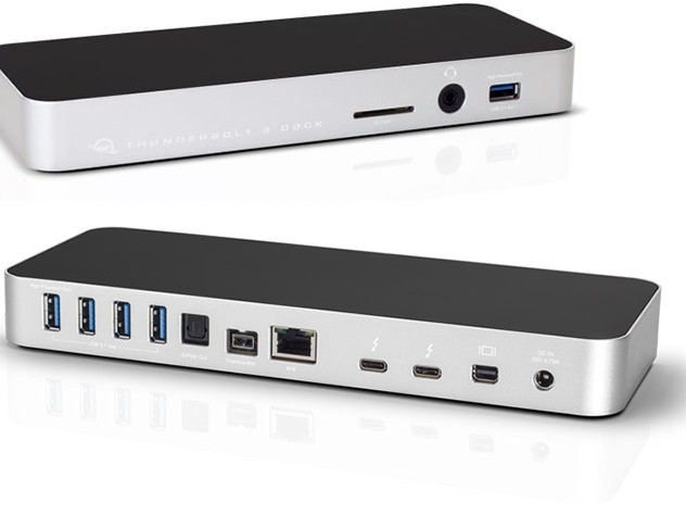 OWC Launches 13-Port Thunderbolt 3 Dock: GbE, USB-A, SD Card, mDP, FireWire & More