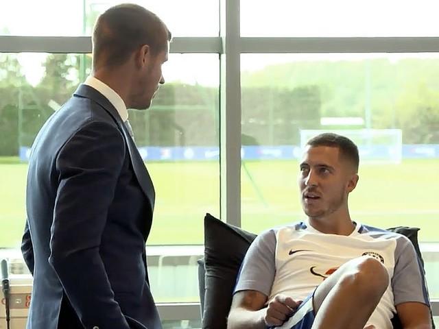 Photos: Chelsea's two new signings meet Eden Hazard at Cobham