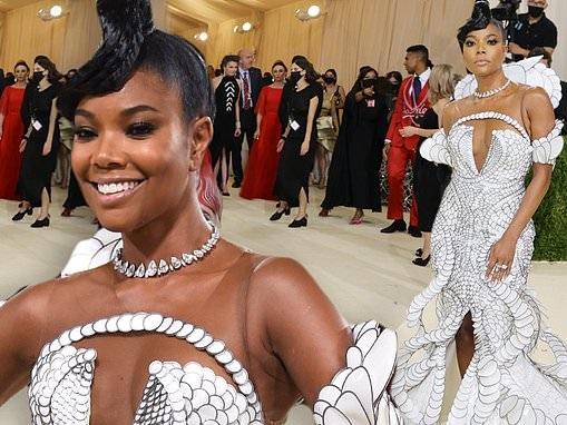 Gabrielle Union encapsulates elegance in a stunning Iris Van Herpen gown at the 2021 Met Gala