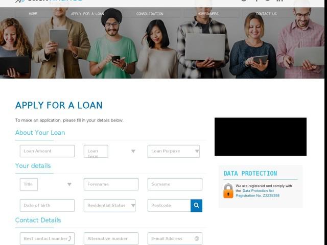 Bad Credit Loans - Application Form - Click Finance