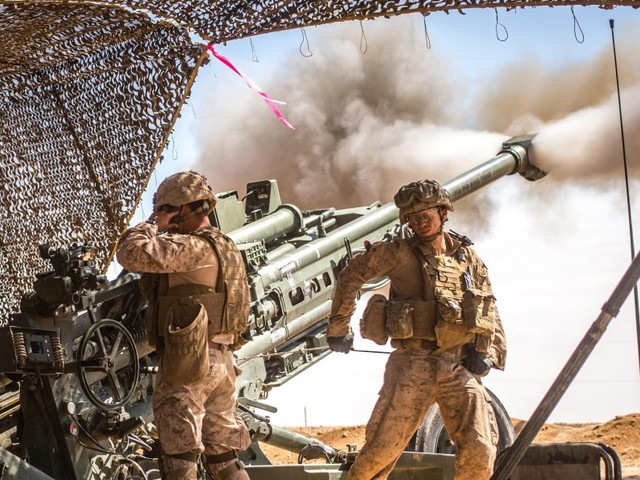 Marines in Syria fired more rounds than any artillery battalion since Vietnam — and burned out 2 howitzers in the process