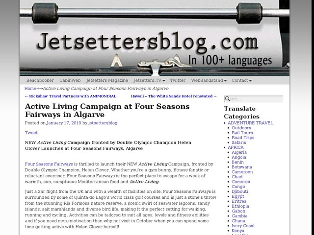 Active Living Campaign at Four Seasons Fairways in Algarve
