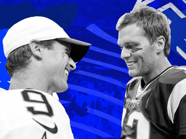 Who will beat out Peyton Manning's TD record: Drew Brees or Tom Brady?