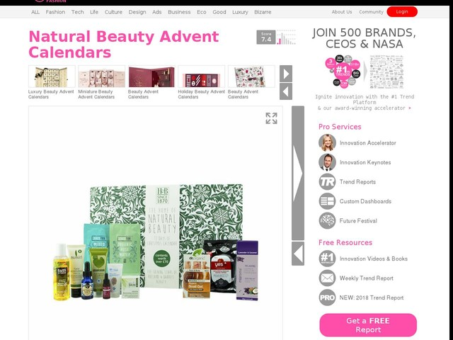 Natural Beauty Advent Calendars - The Holland and Barrett's 12-Day Advent Calendar Emphasizes Health (TrendHunter.com)