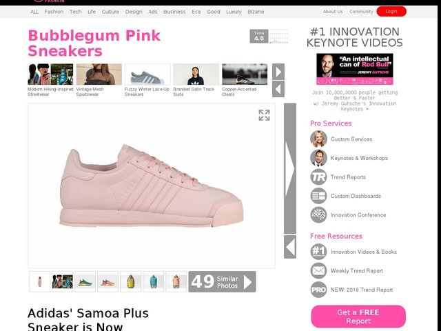 Bubblegum Pink Sneakers - Adidas' Samoa Plus Sneaker is Now Available in a Pink Colorway (TrendHunter.com)