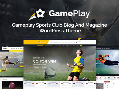 Gameplay News and Sports Club WordPress Theme - Sports WP (Nonprofit)