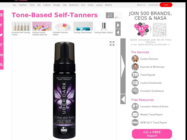 Tone-Based Self-Tanners - Le Tan's 'Uber Dark' Range Offers Colored Bases for Different Skin Tones (TrendHunter.com)