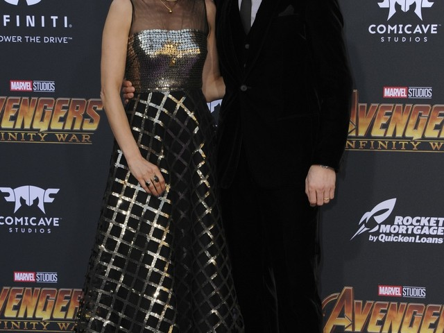 Benedict Cumberbatch & Sophie Hunter at the 'Infinity War' premiere: cute or creepy?