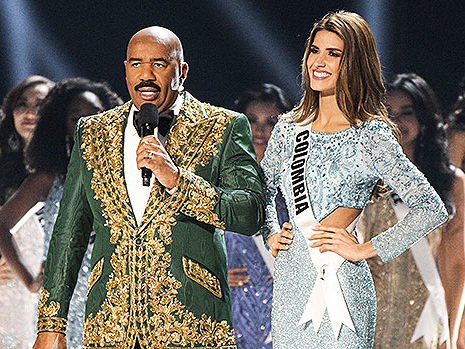 Steve Harvey Dragged For Joking About 'The Cartel' While Talking To Miss Colombia: 'Not Funny'