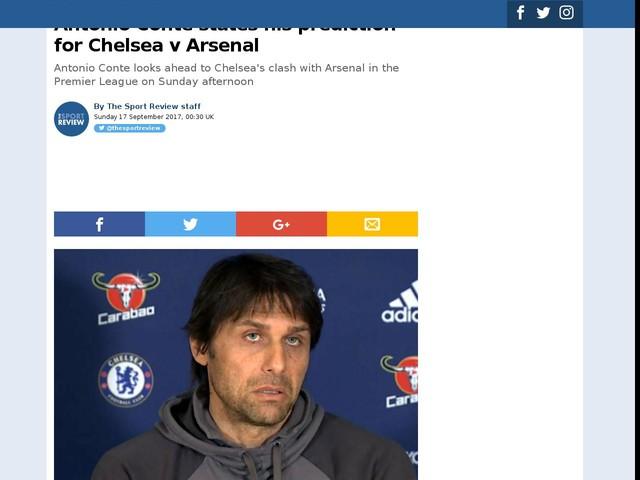 Antonio Conte states his prediction for Chelsea v Arsenal