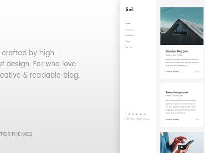 Seil - A Responsive WordPress Blog Theme (Personal)