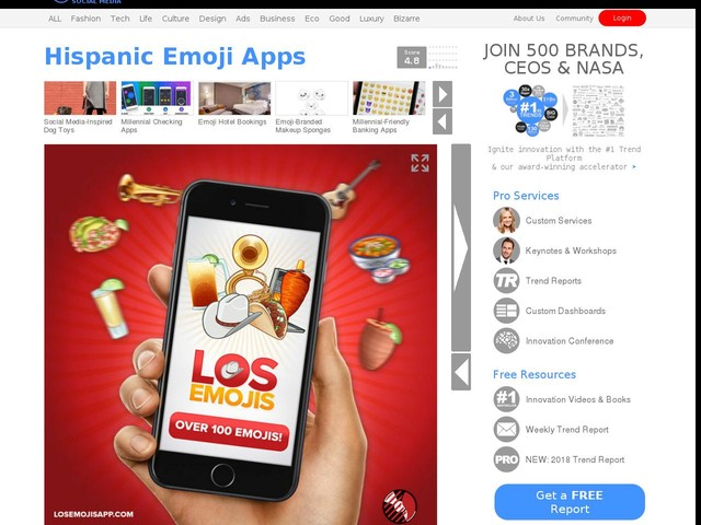 Hispanic Emoji Apps - The Los Emoji App Offers 100 Different Mobile Phone-Friendly Icons (TrendHunter.com)