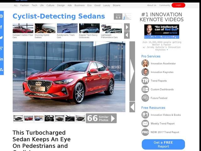 Cyclist-Detecting Sedans - This Turbocharged Sedan Keeps An Eye On Pedestrians and Cyclists (TrendHunter.com)