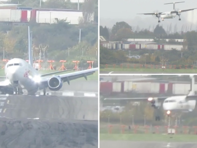 Storm Brian Videos Show Terrifying Moment Planes Sway While Landing At Birmingham Airport