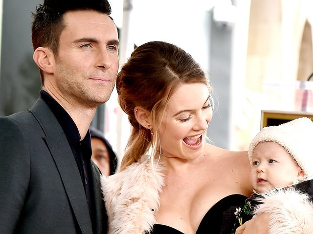 Adam Levine and Behati Prinsloo Are in a Head-to-Head 'Battle' Over Daughter Dusty Rose's First Word