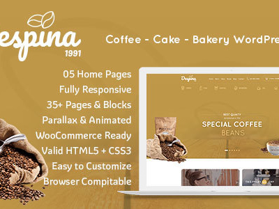 Despina - Coffee and Cake WordPress Theme (Restaurants & Cafes)