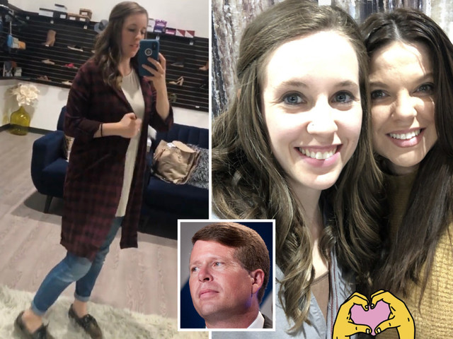 Jill Duggar flaunts banned jeans at rebel cousin Amy's risque boutique