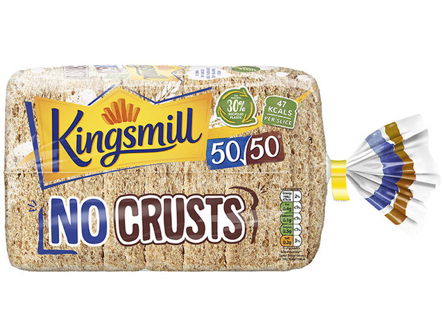 Recycled Plastic Bread Packaging - The Kingsmill 50/50 No Crusts Bread Bag is Eco-Focused (TrendHunter.com)