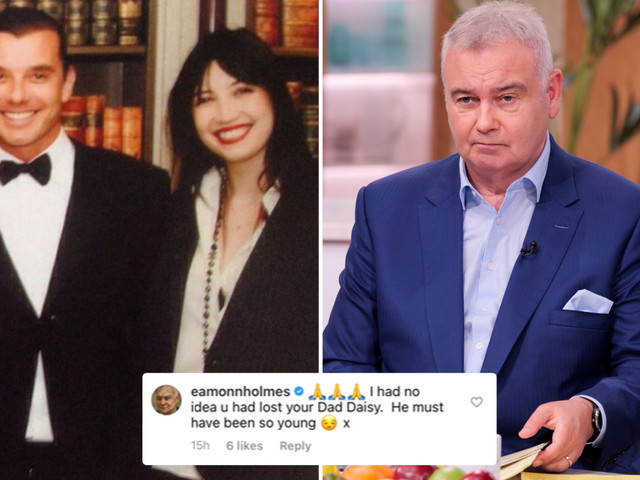Eamonn Holmes in unfortunate gaffe as he mistakenly thinks Daisy Lowe's dad has DIED after her Father's Day tribute