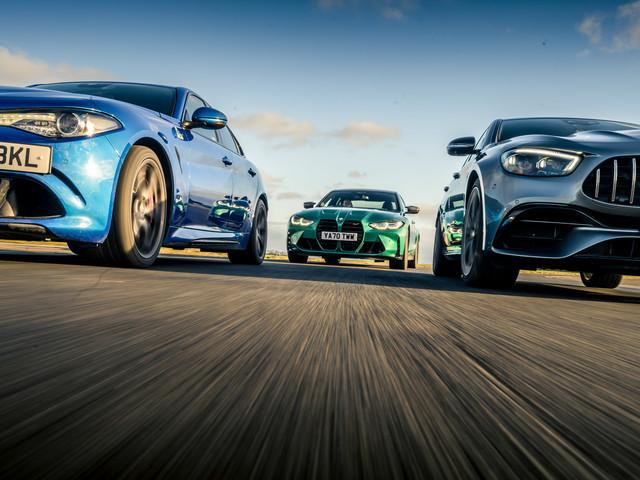 Super-saloon shootout: BMW M3 vs AMG E63 and Alfa Giulia QV