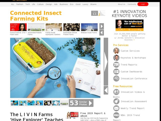 Connected Insect Farming Kits - The L I V I N Farms 'Hive Explorer' Teaches STEM and More (TrendHunter.com)