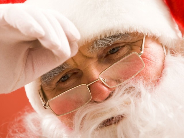 An angry Santa ripped off his beard and told children to 'get the f--- out' of his grotto