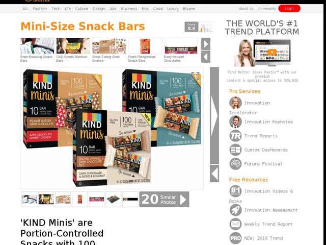 Mini-Size Snack Bars - 'KIND Minis' are Portion-Controlled Snacks with 100 Calories or Less (TrendHunter.com)