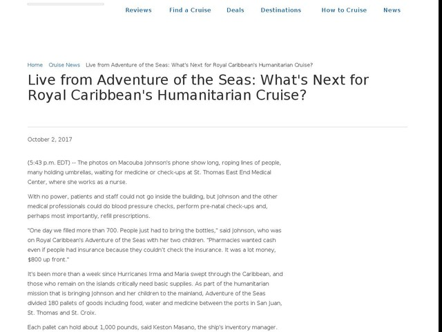 Live from Adventure of the Seas: What's Next for Royal Caribbean's Humanitarian Cruise?