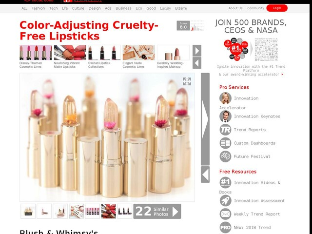 Color-Adjusting Cruelty-Free Lipsticks - Blush & Whimsy's Product Adjusts to Body Temperature & pH (TrendHunter.com)