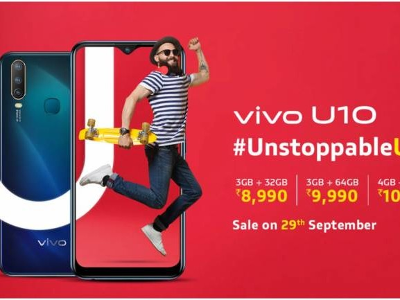 Vivo U10 now available via open sale: Specifications, price, features