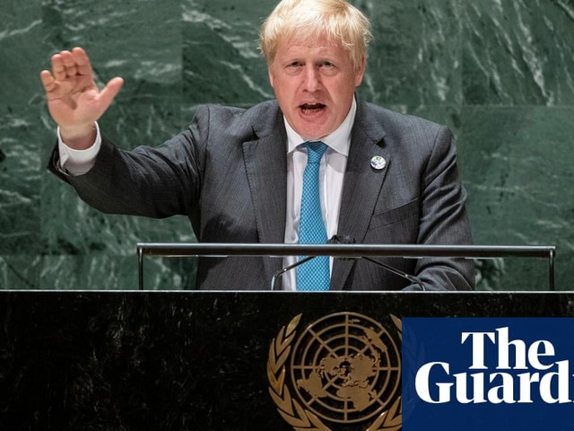 Boris Johnson says humanity must 'grow up' to halt climate crisis during UN speech – video