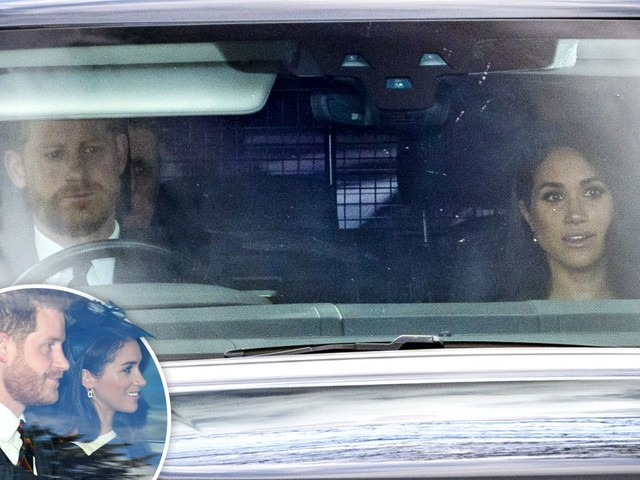 Meghan Markle and Prince Harry join Queen at church in sign 'they all love each other'