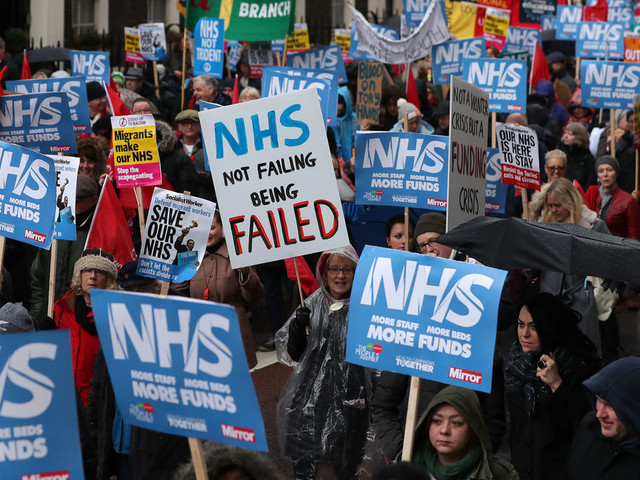 NHS March In London Sees Jeremy Corbyn Blame 'Tories And Austerity For Crisis'