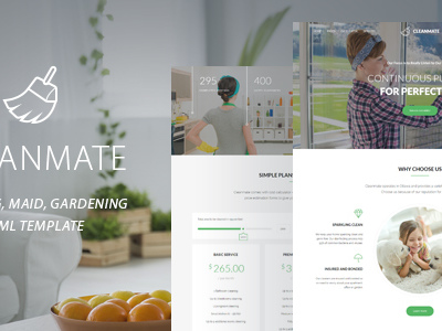 CleanMate - Cleaning Company Maid Gardening Template (Business)