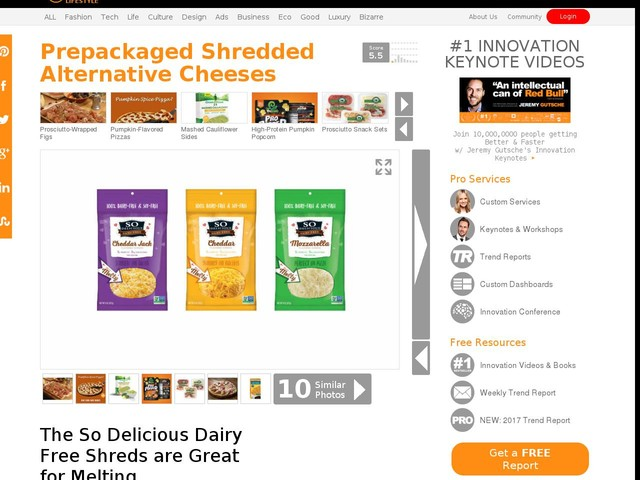 Prepackaged Shredded Alternative Cheeses - The So Delicious Dairy Free Shreds are Great for Melting (TrendHunter.com)
