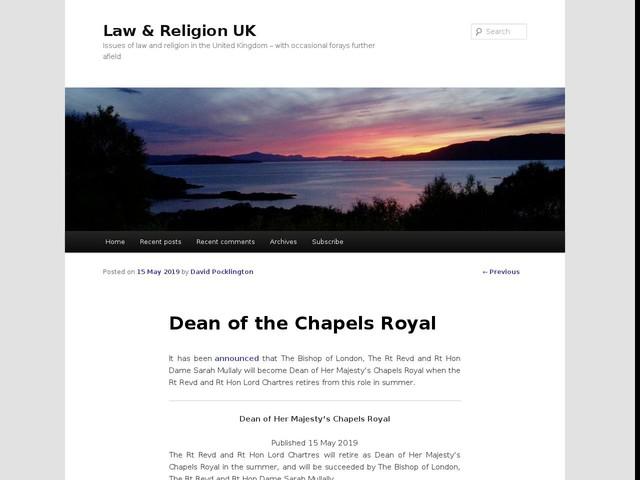 Dean of the Chapels Royal