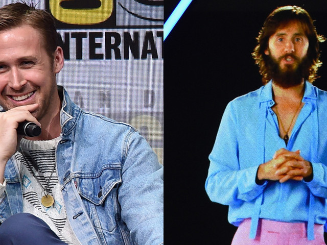 Ryan Gosling Promotes 'Blade Runner' at Comic-Con While Jared Leto Appears via Hologram!