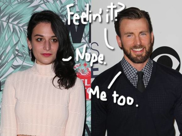 Denial AND More Public Flirting? Are Chris Evans & Jenny Slate Back Together Or Not??