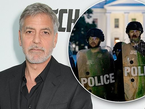 George Clooney pens powerful essay on race riots in America and makes a dig at President Trump